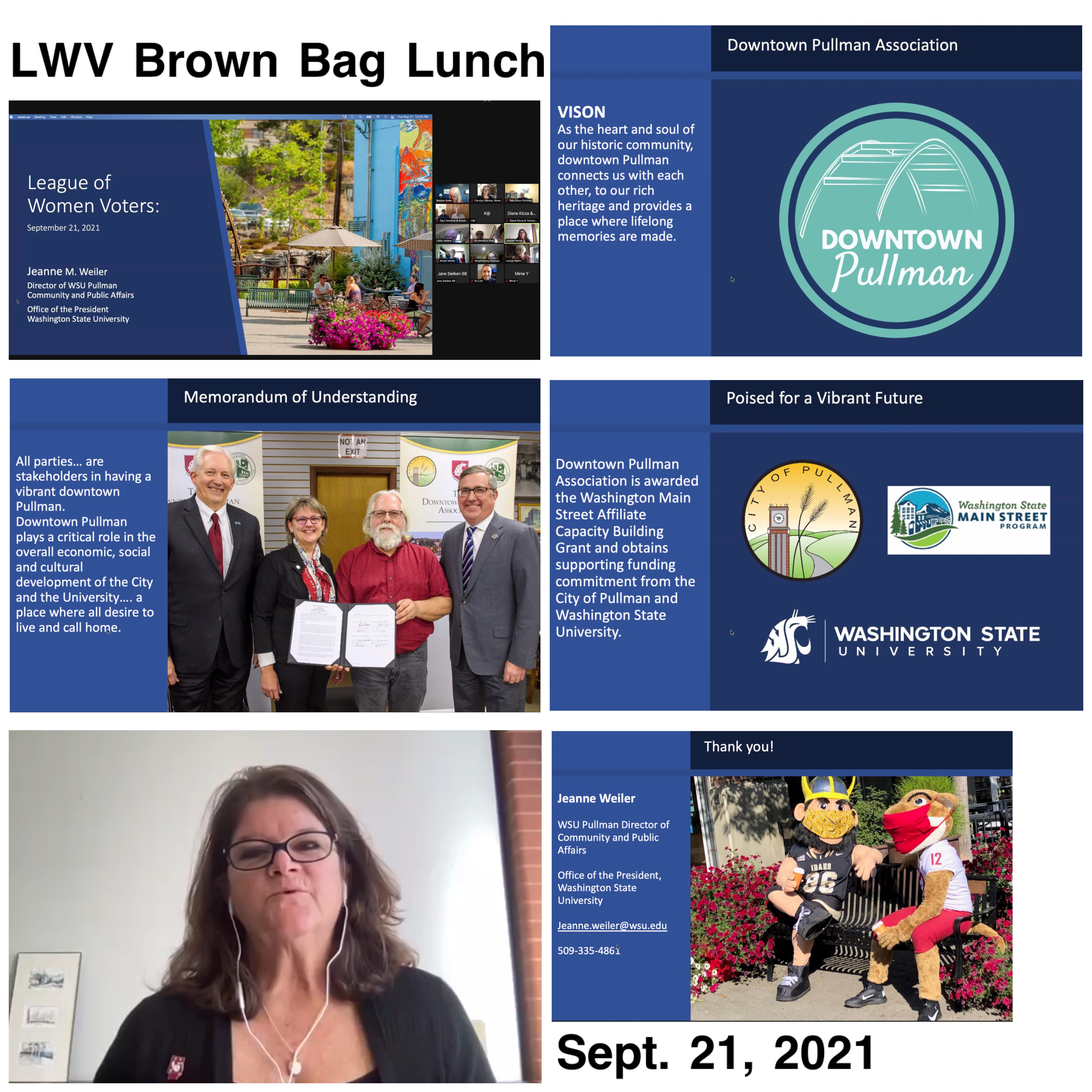 Brown Bag Lunch for Downtown Pullman Association